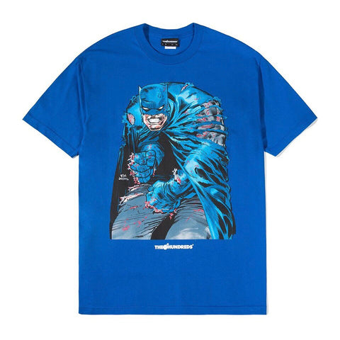 THE HUNDREDS T-SHIRT RIPPING ROYAL BLUE
