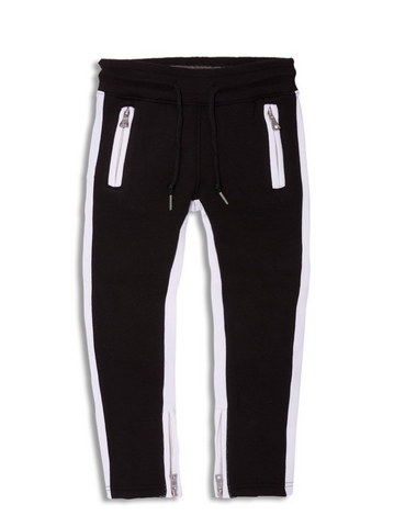 KIDS JORDAN CRAIG FLEECE TRACK PANTS - BLACK