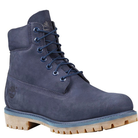 TIMBERLAND BOOT 6IN WATERPROOF NUBUCK MED BLUE