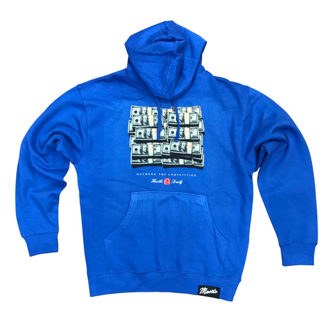 MUERTE HUSTLE DAILY OUTWORK THE COMPETITION HOODIE - BLUE