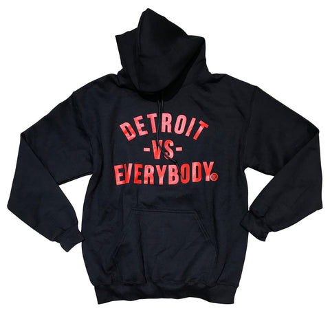 DETROIT VS EVERYBODY HOODIE BLACK/RED