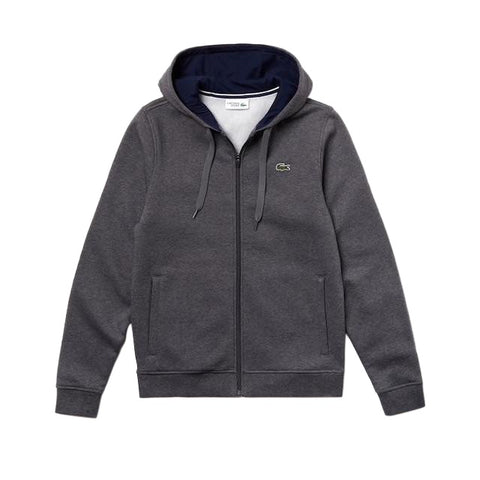 LACOSTE HOODIE GREY CHINE SH7609