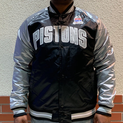 MITCHELL AND NESS 2 TONE PISTONS SATIN JACKET