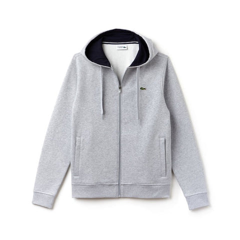 LACOSTE FLEECE ZIP UP GREY