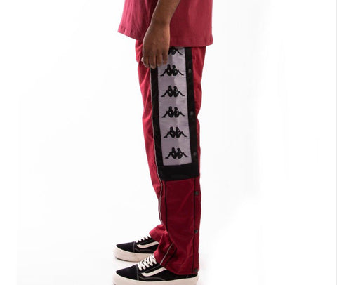 KAPPA 222 BANDA 10 ARPAN TRACKPANTS - RED/BLACK 3031QZ0