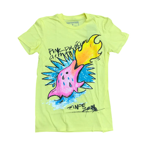 PINK DOLPHIN SPARKED T SHIRT YELLOW SP1911SUYE