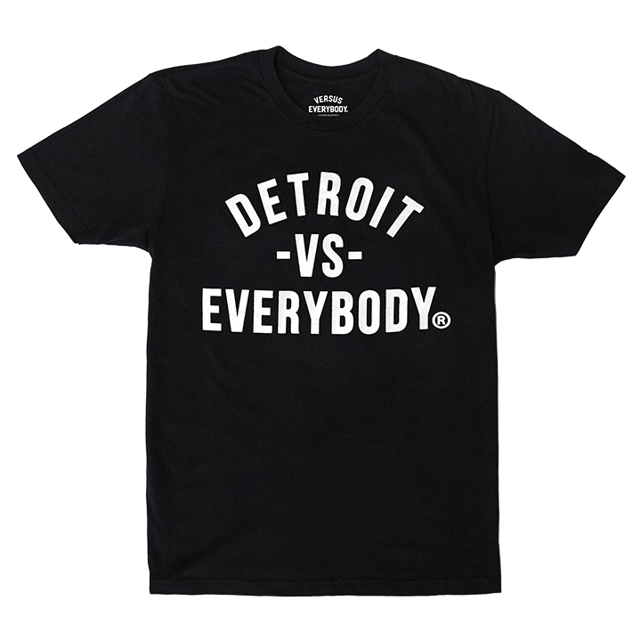 DETROIT VS EVERYBODY T-SHIRT BLACK/WHITE