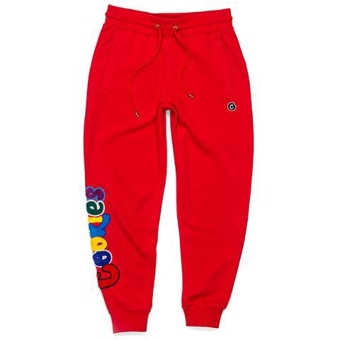 COOKIES FLEECE PANT RED 1532B3146