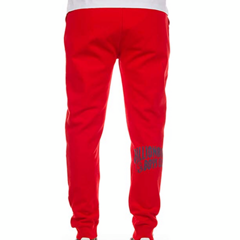 BILLIONAIRE BOYS CLUB SWEAT PANT RED 881-8100