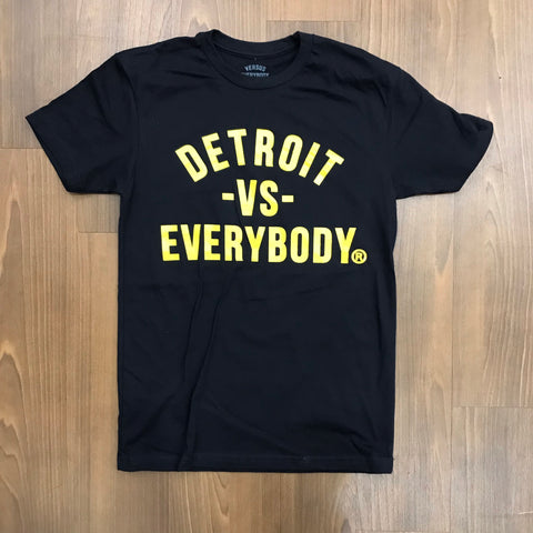 DETROIT VS EVERYBODY T-SHIRT BLACK/YELLOW