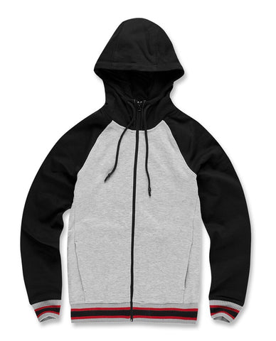 JORDAN CRAIG FAIRFAX ZIP UP HOODIE - H/GREY