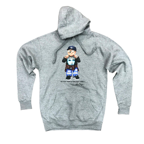 DIRT LABEL BIG SEAN BEAR HOODIE - GREY M2580