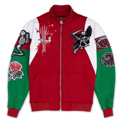REASON REAPER TRACK JACKET - RED