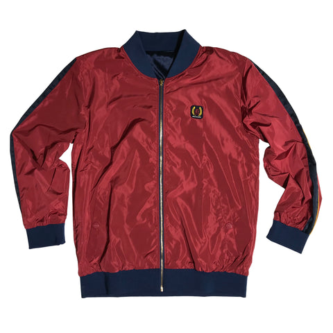 IRO-OCHI IMPERIAL REVERSIBLE STADIUM JACKET - NAVY/CRIMSON