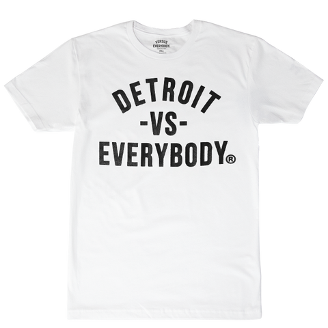 DETROIT VS EVERYBODY T-SHIRT WHITE/BLACK