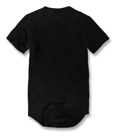 JORDAN CRAIG SCALLOP T-SHIRT - BLACK
