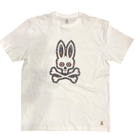 PSYCHO BUNNY STEEPHILL GRAPHIC CREWNECK TEE - WHITE B6U689A1PC