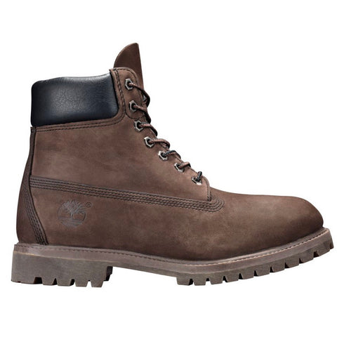 TIMBERLAND BOOT 6IN WATERPROOF NUBUCK MED BROWN