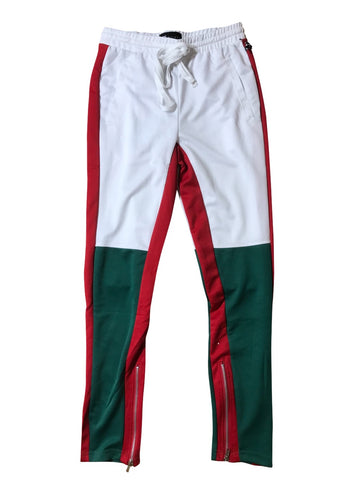 WAIMEA JOGGING PANTS - WHITE/GREEN/RED