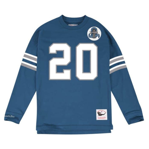 MITCHELL AND NESS LIONS TOP BLUE