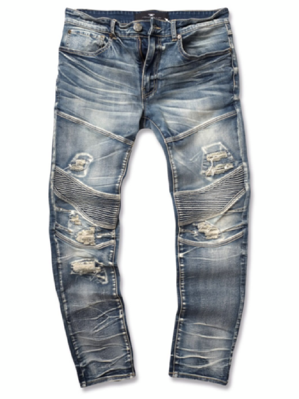 JORDAN CRAIG OUTLAW MOTO DENIM - STUDIO BLUE