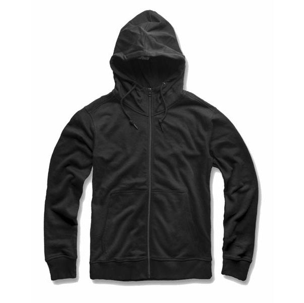 JORDAN CRAIG FRENCH TERRY ZIP UP HOODIE - BLACK