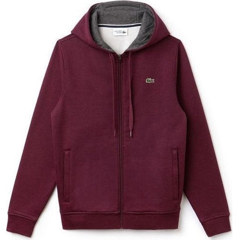 LACOSTE HOODIE BLACKBERRY CHINE/ PITCH