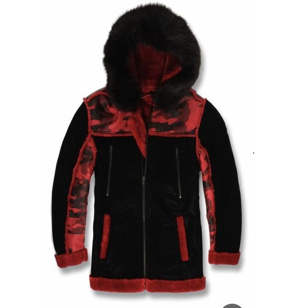 JORDAN CRAIG SHEARLING BLACK/RED
