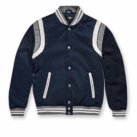 fa0de382b0cd KIDS JORDAN CRAIG SATIN JACKET - NAVY
