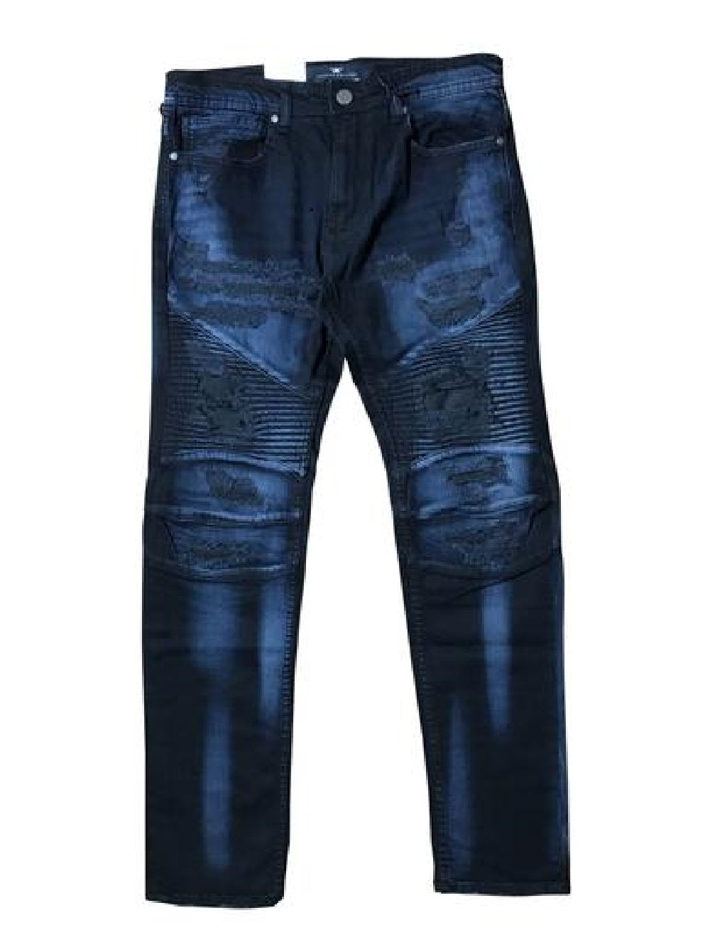 JORDAN CRAIG MARAUDER MOTO DENIM - MIDNIGHT BLUE