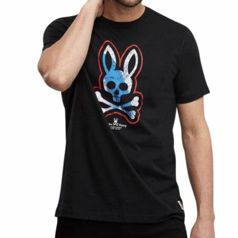 PSYCHO BUNNY T SHIRT BLACK B6U243E1PC
