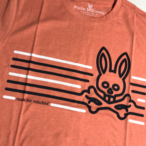 PSYCHO BUNNY T SHIRT DUTTON GINGER SP19