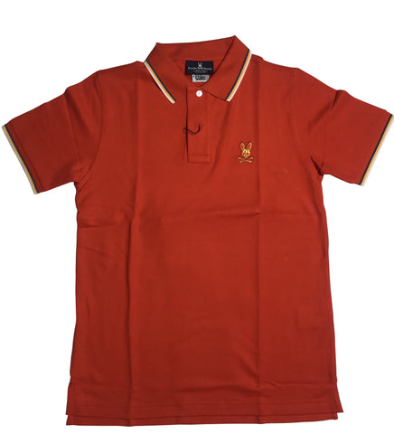 PSYCHO BUNNY POLO SP-19 FIRE