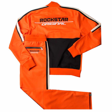 ROCKSTAR JOGGING SUIT ORANGE RSM7026