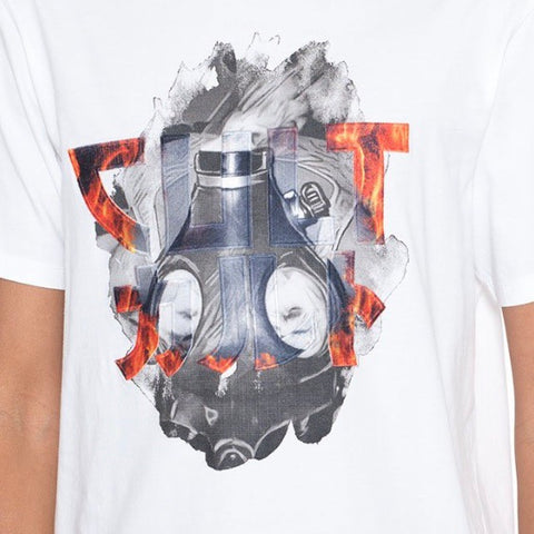 CULT OF INDIVIDUALITY T SHIRT GAS MASK WHITE 69A5-K64A