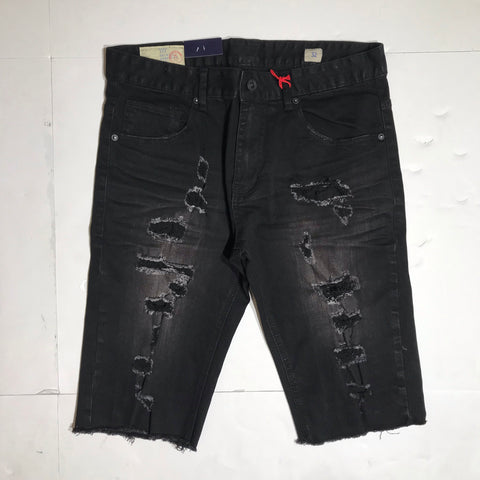 SMOKE RISE SHORT WASH BLACK JS9345