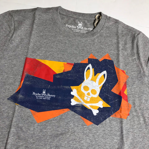 PSYCHO BUNNY T  SHIRT LIFFORD HEATHER SP19