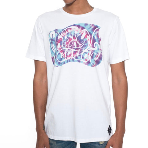 CULT OF INDIVIDUALITY T SHIRT TYEDYE WHITE 69AW5-KW103A