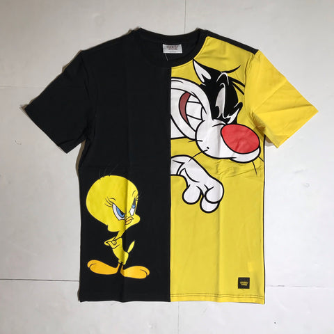 LOONEY TUNES T-SHIRT BLACK/YELLOW LT10058-YLW