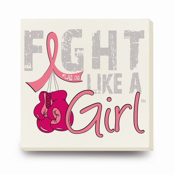 Fight Like A Girl Stone Coasters W/holder