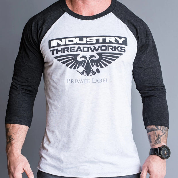 Industry Threadworks Logo - Raglan Triblend