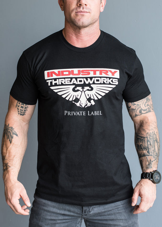Industry Threadworks Logo - Black - 100% Cotton