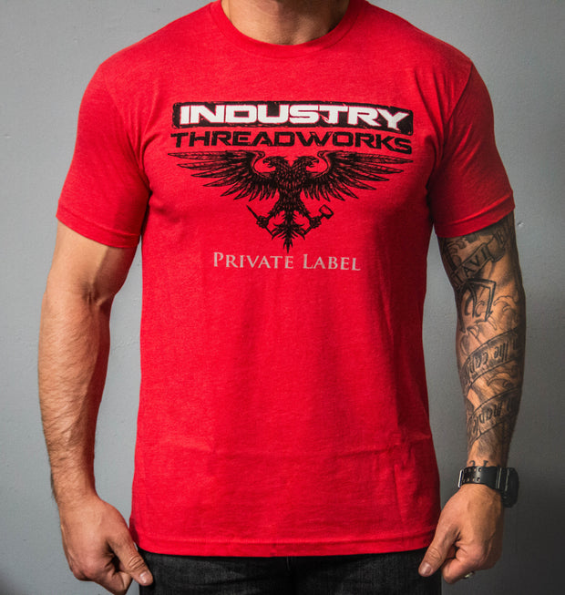 Industry Threadworks Double Eagle Logo - Red