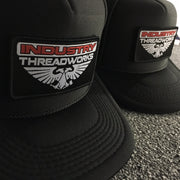 Industry Trucker Hats - with removable velcro patch