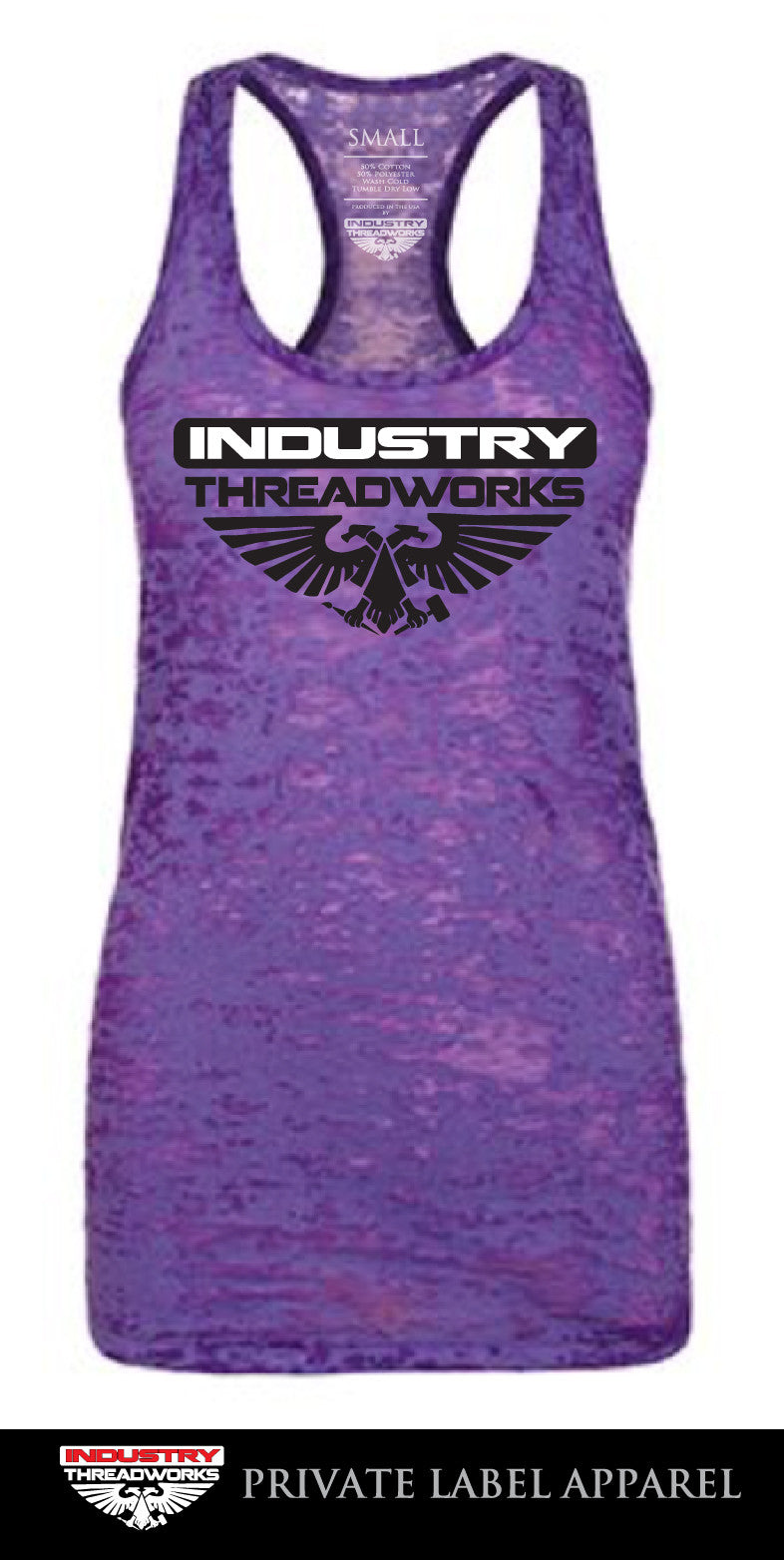 Women's Purple Burnout Tank