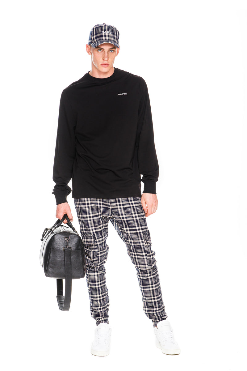 Rarefied Quote Long Sleeve T-Shirt With Rare Branded Pant, Cap and Handbag