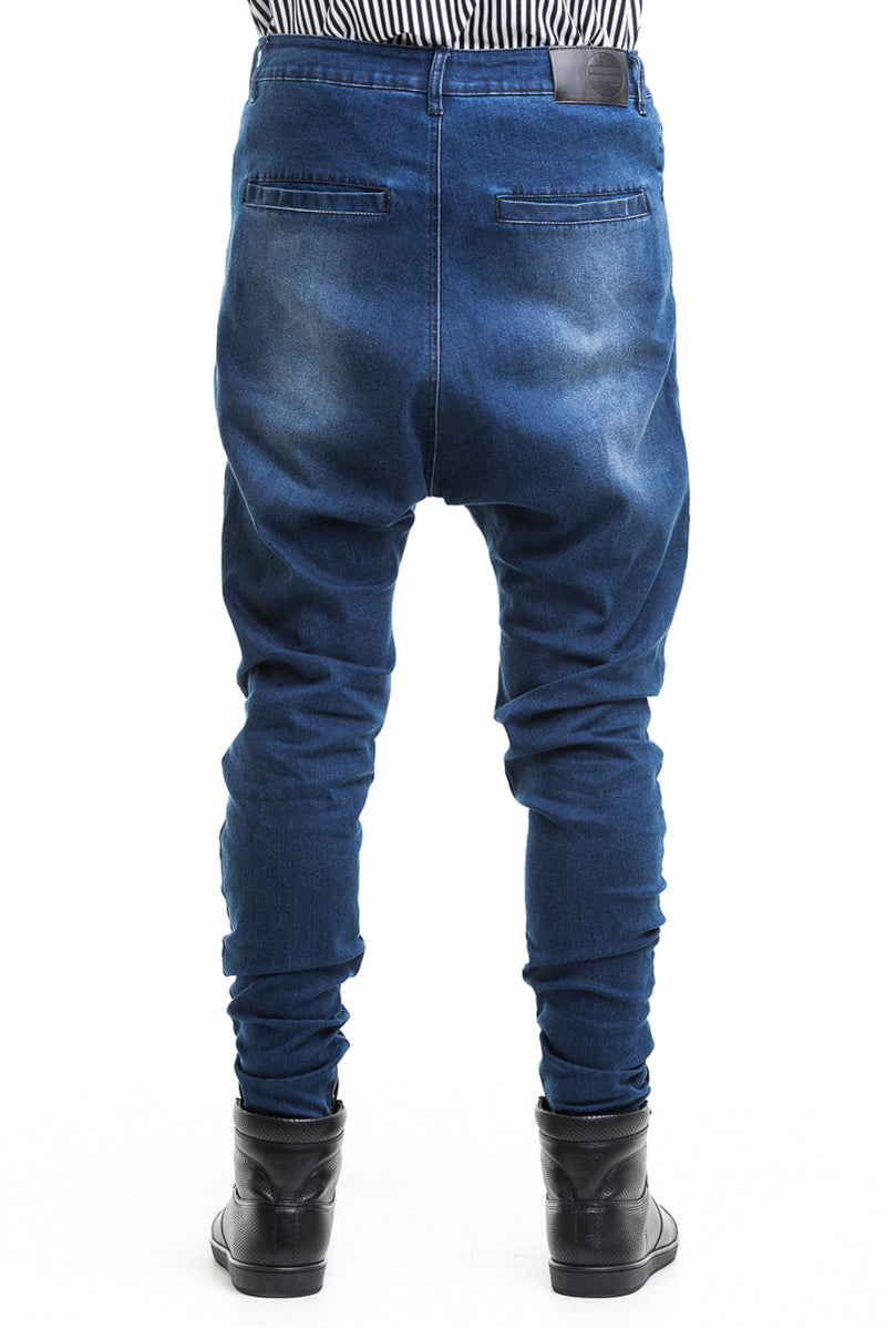 Blue 12OZ Jeans -  Substantial Drop Crotch With A Decreased Fit