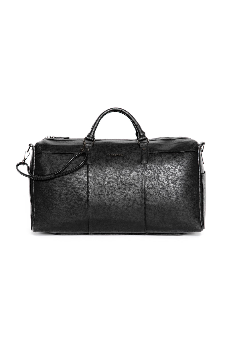 Leather Duffle Bag - Black