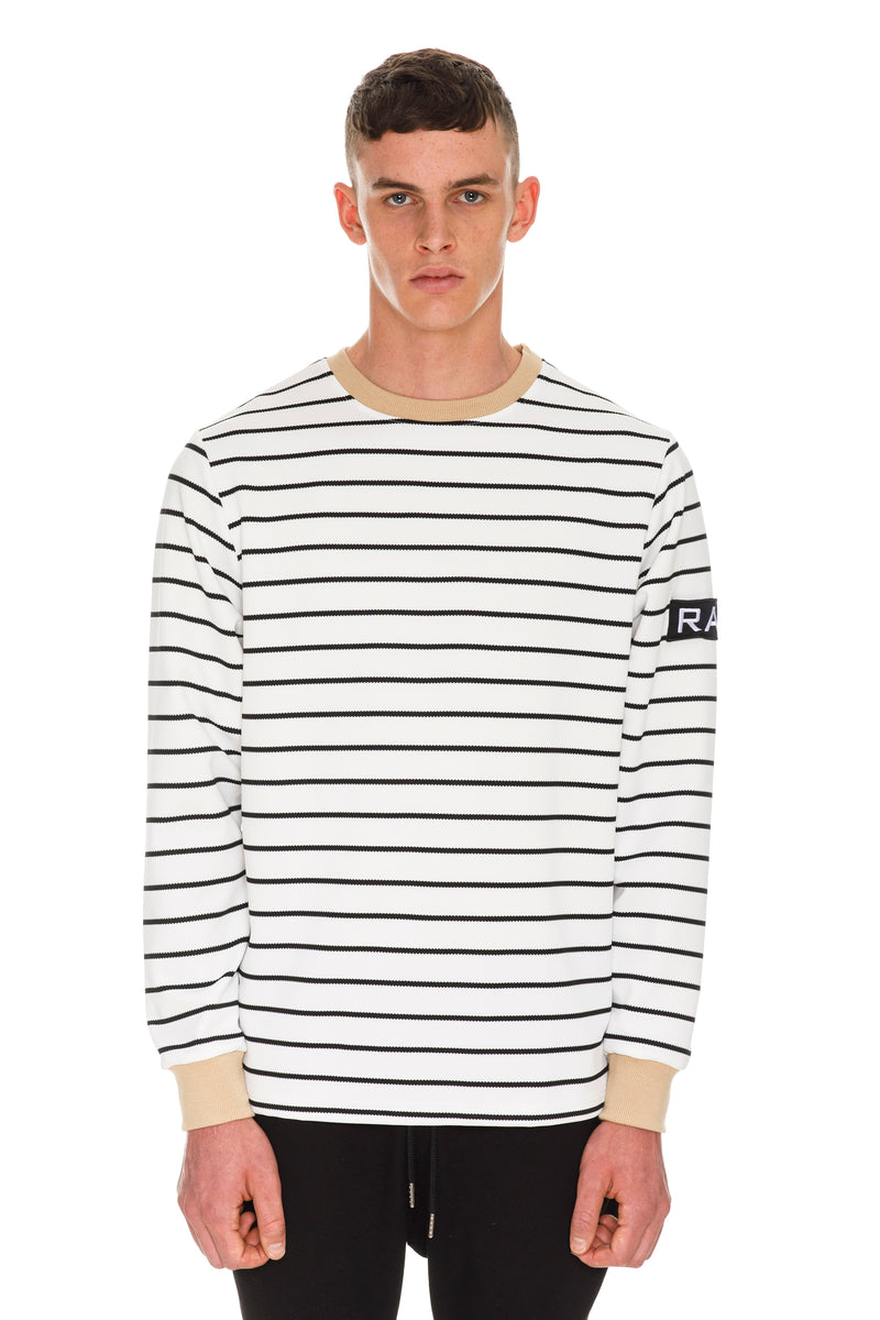 Rare Patch Long Sleeve T-Shirt - White Top Thumbnail