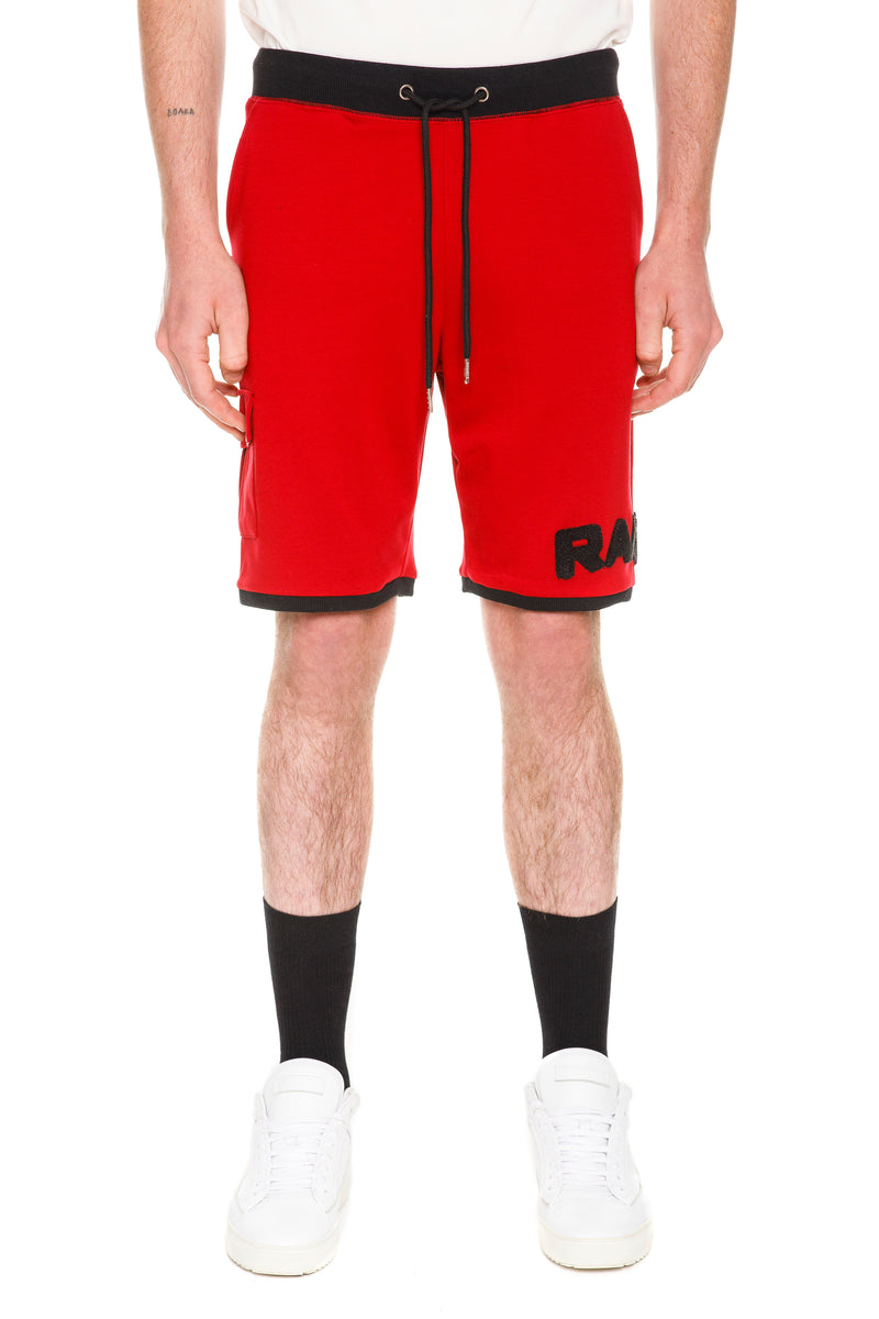 Red  Rare Shorts - Two Tone Detailing